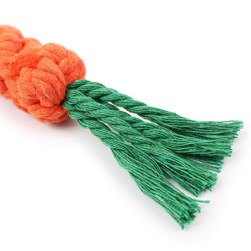Carrot Shaped Rope Toy