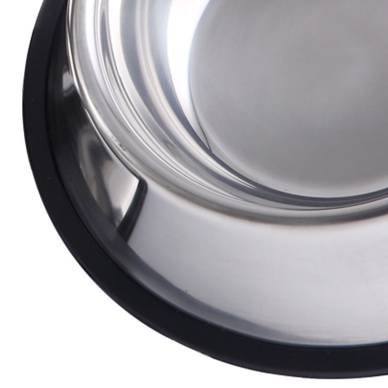 Pet Stainless Steel Bowl with Anti-Slip Pad