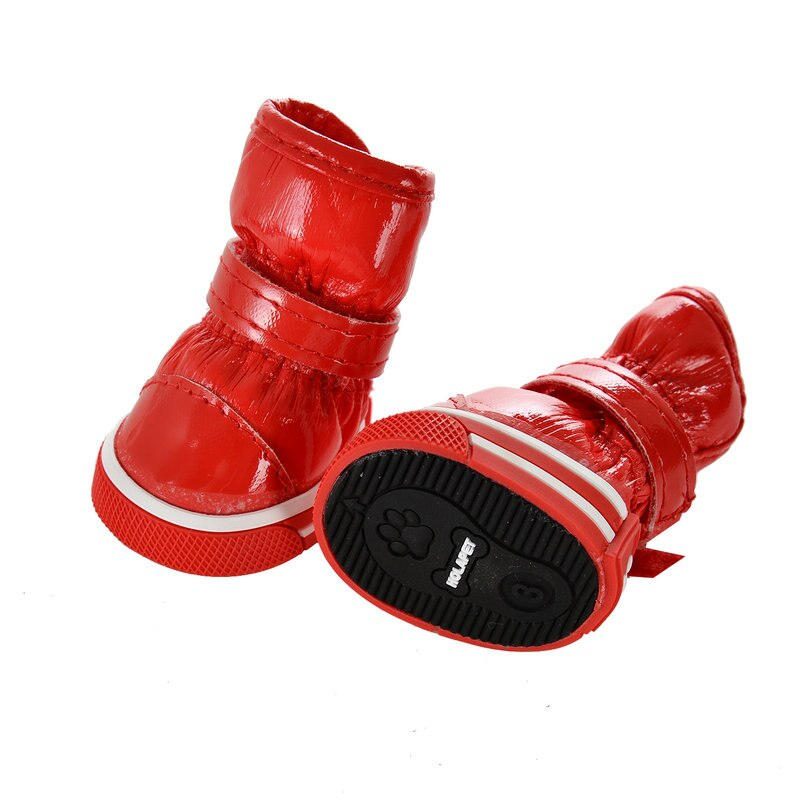 Warm Anti Slip Shoes for Dogs 4 pcs Set