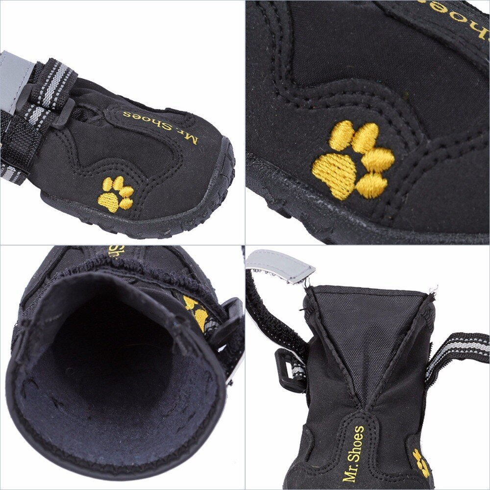 Warm and Soft Shoes for Dogs 4 pcs Set